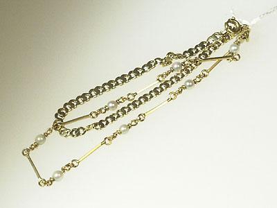 1 Armband 18ksmå odlade pärlor,