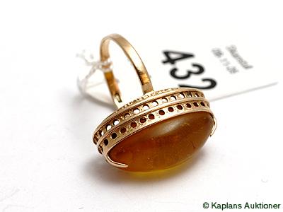 1 Ring med sten, stl