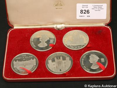 5 Samlingsmynt Silver Jubilee 1952-77