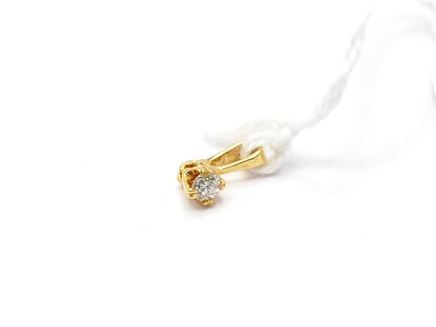 Hänge, med diamant