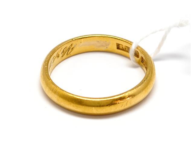 Ring, 23K, graverad